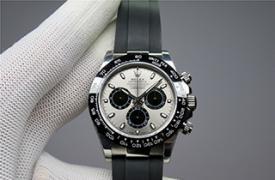 【N】4130机 迪通拿 116519ln-0027 白金迪 胶带灰面熊猫迪