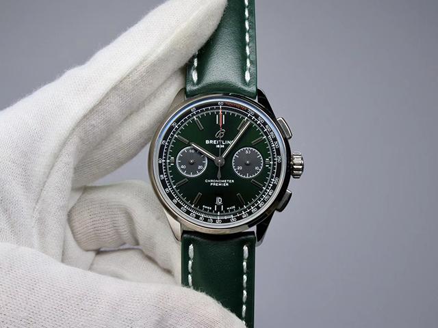 【GF】璞雅系列B01计时 42mm 绿面
