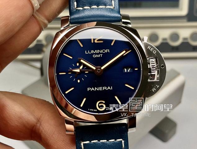 "VS厂沛纳海PAM00688""骚得蓝""评测及两地时GMT调时功能使用说明"